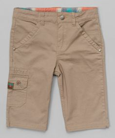 Look what I found on #zulily! Tan Twill Shorts - Toddler & Boys by Rococo #zulilyfinds