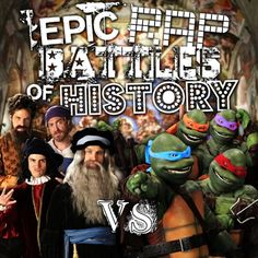 When You Put TMNT in an Epic Rap Battle Against Italian Artists, Here is What You Get. #ERB #TMNT