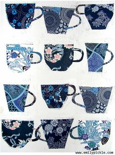 365 days of design: Day 47 - how many tea cups do you need?, You can appreciate morning meal or various time times applying tea cups. Tea cups likewise have decorative features. When you go through the tea glass models, you might find that clearly. Tea Art, Collage Art, Art Lessons, Print Patterns, Pattern Design, Art Projects, Tea Cups, Illustration Art, Artsy