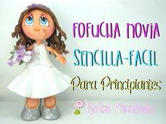 DIY - Cómo hacer Fofucha Novia Sencilla - Fácil - Para principiantes - #TijeritasManualidades - YouTube