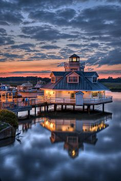 Sunset on the Pagan River, Smithfield, VA Near the Suffolk house in Smithfield, VA