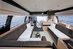 Internal view Ferretti Yachts - Ferretti 570 #yacht #luxury #ferretti