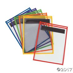 Slide a document, worksheet or copy of a page from a book in these sleeves and write or highlight without damaging your original. The perfect way for multiple ...