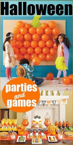 Halloween Party Ideas.  Great ideas for Halloween decorations, party games and crafts.