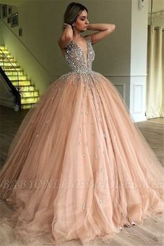 Quinceanera Dresses 2020 Blush Pink Ball Gown Sweet Beaded Formal Gowns vestidos de 15 Party Prom Dresses on AliExpress Ball Gowns Evening, Ball Gowns Prom, Ball Gown Dresses, Evening Dresses, Pink Ball Gowns, Sweet 16 Dresses, Pretty Dresses, Beautiful Dresses, Fabulous Dresses