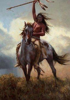 guerrier indien à cheval