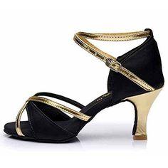 a4efaf97 Comprar Ofertas de HROYL Zapatos de baile/Zapatos latinos de el marrón satín  mujeres ES5-259 EU 40 barato. ¡Mira las ofer… | Pinteres…