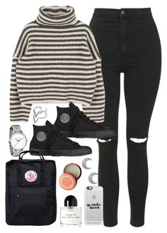 """""""Outfit for university"""" by ferned on Polyvore featuring Topshop, Converse, Fjällräven, Edge of Ember, Byredo, Casetify and Mor"""