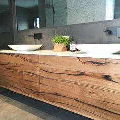 | Wall Hung Bathroom Vanity | Reclaimed Australian Hardwood Timber | Natural Oil & Wax Finish | 4 x Push to Open Drawers | Stonework Not Included | POA |