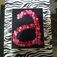 Button letter A Pea Ideas, Button Letters, Alphabet, Arts And Crafts, Buttons, Crafty, Lettering, Random, Creative