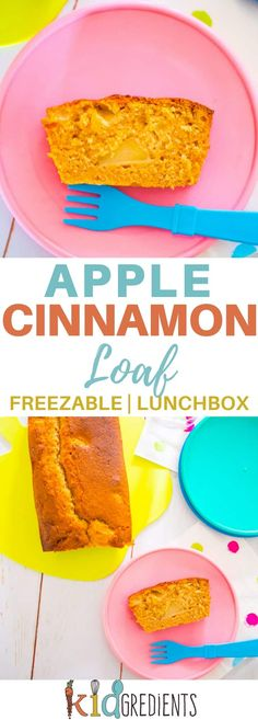 This apple cinnamon loaf is perfect in the lunchbox and goes in the freezer too! Easy to bake recipe that is so yummy! #appleandcinnamon #loaf #lunchbox #recipe #kidsfood #delicious #freezerfriendly