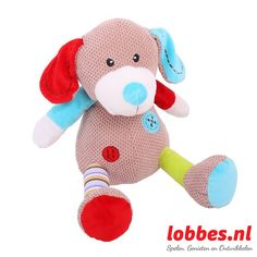 Kleurrijke knuffel Bruno. Bruno is een lekkere, zachte babyknuffel. lobbes.nl