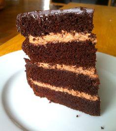 Dark Chocolate Cake #glutenfree #grainfree #paleo. Me lo apunto para probar sin huevo