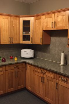 Enjoy the look and feel of real wood without the expense. These cabinets are covered with a woodgrain thermafoil. Kitchen Reno, Kitchen Cabinets, Stone Countertops, Real Wood, Plumbing, Flooring, Home Decor, Kitchen Cupboards, Homemade Home Decor