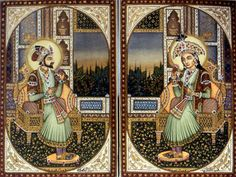 Shah Jahan and Mumtaz Mahal ~In 1612, a teenage girl, Arjumand Banu, married 15-year-old Shah Jahan, ruler of the Mughal Empire.Renamed Mumtaz Mahal, she bore Shah Jahan 14 children and became his favorite wife. After Mumtaz died in 1629, the grieving emperor resolved to create a fitting monument. It took 20,000 workers and 1,000 elephants nearly 20 years to complete this monument - the Taj Mahal.