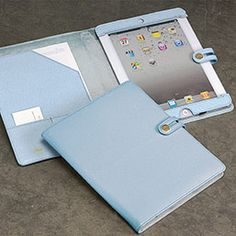 A soft leather iPad holder in brilliant colors. Obtain luxurious security for your iPad 2. - Levenger
