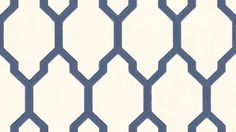 Tessella (BP 3604) - Farrow & Ball Wallpapers - The geometric, unique pattern commands attention. It's bravely bold and addictively elegant. Shown in navy blue on off white - more colours are available. Please request a sample for true colour match.