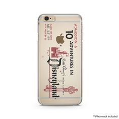 Disney Land Retro Ticket Clear iPhone Case iPhone by lilidesigners