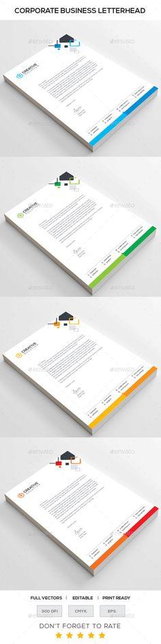CREATIVE SOLUTION Corporate Letterhead - Stationery Print Templates