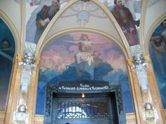 Mural by Alphonse Mucha in the Mayor's Hall in the Prague Municipal House