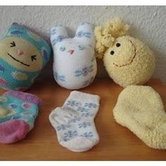 Stray Sock Doll Tutorial- I've so many stray baby socks! Sewing Toys, Sewing Crafts, Sewing Projects, Craft Projects, Sock Crafts, Fun Crafts, Crafts For Kids, Sock Toys, Operation Christmas Child