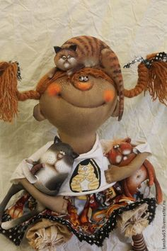 Авторские куклы от Арины Бадьяновой.