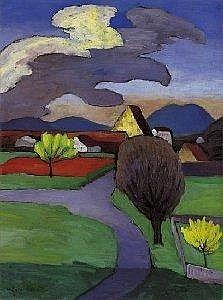 Gabriele Munter Berlin 1877 - 1962 Murnau RISING C - by Villa Grisebach