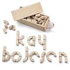 ALPHABET BLOCKS blocs de construction en bois, Kay Bojesen
