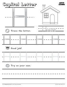 1000 images about letter h on pinterest worksheets letters and writing practice. Black Bedroom Furniture Sets. Home Design Ideas