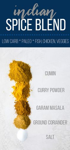 Homemade Indian spice mix is perfect for seasoning your chicken and vegetables. Only 5 simple pantry ingredients required and it's low carb, gluten-free, paleo and vegan! #sweetpeasandsaffron #mealprep #spiceblend #seasoning #indian #lowcarb #keto #paleo #vegan #glutenfree via @sweetpeasaffron