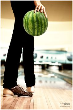 watermelon bowling, not as successful as I had hoped!  Smashed on the first throw, lol