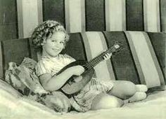 Shirley Temple with a uke