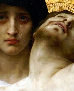 """A sword will pierce your heart""  Pietà (Detail) 1876  William-Adolphe Bouguereau"