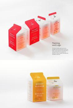 Zee – Honey Goods by Gen Design Studio, via From up North Food Packaging Design, Packaging Design Inspiration, Brand Packaging, Branding Design, Packaging Ideas, Honey Packaging, Beverage Packaging, Bottle Packaging, Chocolate Packaging