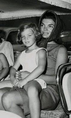 Jackie with a young Caroline.