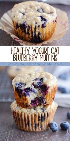 Easy and so delicious, these healthy yogurt oat blueberry muffins have no refine. - Easy and so delicious, these healthy yogurt oat blueberry muffins have no refine. Easy and so delicious, these healthy yogurt oat blueberry muffins . Healthy Yogurt, Healthy Sweets, Healthy Breakfast Recipes, Healthy Baking, Healthy Muffins For Kids, Healthy Blueberry Desserts, Healthy Snack Recipes, Healthy Oatmeal Muffins, Healthy Sweet Snacks