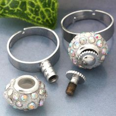 Ring findings for Euro beads . Starting at $5 on Tophatter.com!   Euro Bracelet Supplies No.65 March 14, 8pm EDT