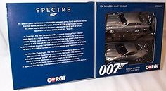 Corgi  2015 release james bond 007 spectre 2 piece set aston martin DB5 andamp