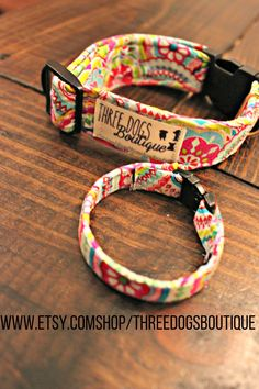 """Dog Collar with optional bff bracelet """"The Roxy"""" FREE SHIPPING"""