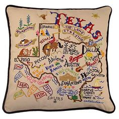 EMBROIDERED TEXAS PILLOW, Unassigned Items at Maverick Western Wear.