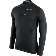 Carolina Panthers Nike Hyperwarm Fitted Long Sleeve Performance T-Shirt - Black - $48.99