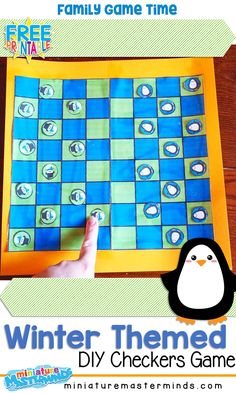 First Grade ⋆ Miniature Masterminds Checkers Board Game, Play Checkers, Educational Board Games, Educational Activities, Winter Activities For Kids, Games For Kids, Mastermind Board Game, Checker Board, Checker Game