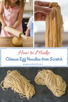 ramen noodle recipes Easy and Homemade: Chinese Egg Noodles From Scratch noodles via gingerandscotch Chinese Egg Noodles Recipe, Chinese Noodle Recipes, Egg Noodle Recipes, Fresh Egg Noodle Recipe, Homemade Egg Noodles, Homemade Pasta, Ramen Noodle Recipes Homemade, Homemade Chinese Food, Gastronomia