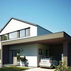 modernes SatteldachHaus Haus Design Pinterest House