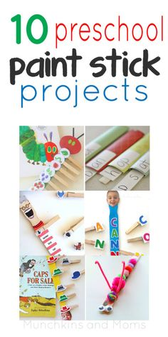 10 Paint Stick Projects for Preschoolers. These are brilliant!