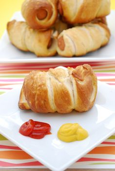 Pretzel Dogs. You could easily make these with turkey dogs and whole wheat pretzels for a healthier alternative.