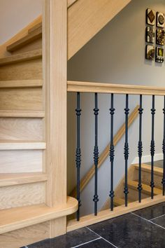 Grand Staircase, Staircase Design, Stairs, Steel Railing, Railings, Indoor Stair Railing, Stairway Storage, Balustrades, Wrought Iron Decor