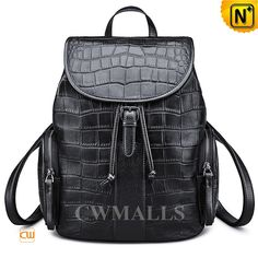 CWMALLS Womens Embossed Leather Backpack CW206206 Classics leather backpack made of genuine cowhide leather with coro embossed, drawstring silhouette leather backpack top detailed with flap, side zip pockets,back zip pocket. www.cwmalls.com PayPal Available (Price: $177.89) Email:sales@cwmalls.com