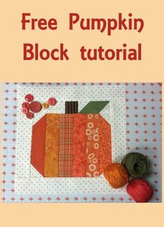 Halloween Free Patterns Roundup Free Pumpkin Block Tutorial and other patterns in the Halloween Roundup Quilting Tutorials, Quilting Projects, Quilting Designs, Fall Sewing Projects, Small Quilt Projects, Quilting Ideas, Halloween Quilt Patterns, Halloween Quilts, Halloween Fabric