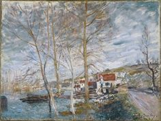 Flood at Moret by Alfred Sisley Size: 54x71.8 cm Medium: oil on canvas